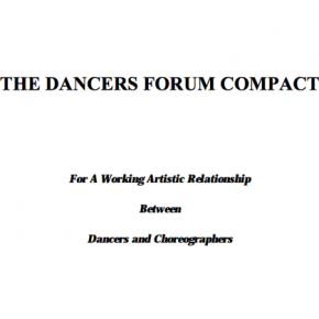A Working Artistic Relationship Between Dancers and Choreographers